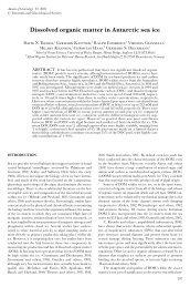 Dissolved organic matter in Antarctic sea ice - School of Ocean ...