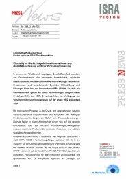 Einmalig im Markt: Inspektions-Innovationen zur ... - ISRA VISION AG