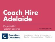 Choose Coach Hire Adelaide or Adelaide Coach Hire Services