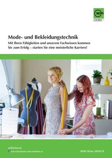 Mode- und Bekleidungstechnik - Ausbildungen und Kurse im WIFI Wien