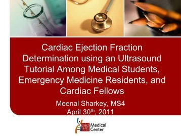 Cardiac Ejection Fraction Determination Using An Ultrasound