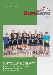 Burgberger Mitteilungsblatt 09/2016