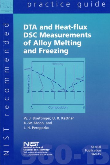 DTA and Heat-flux DSC Measurements of Alloy Melting and Freezing