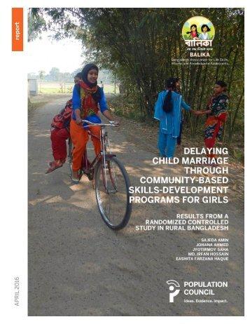 THROUGH COMMUNITY-BASED SKILLS-DEVELOPMENT PROGRAMS FOR GIRLS