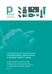 ANTIMICROBIAL RESISTANCE A PATIENT SAFETY ISSUE