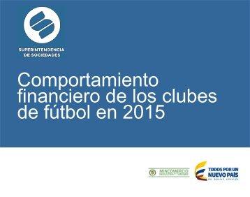 Comportamiento financiero de los clubes de fútbol en 2015