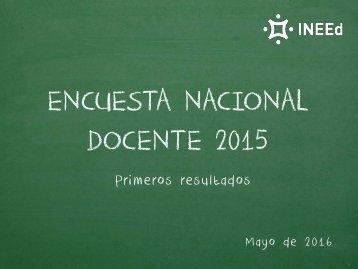ENCUESTA NACIONAL DOCENTE 2015