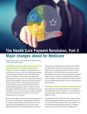 The Health Care Payment Revolution Part 3 Major changes ahead for Medicare