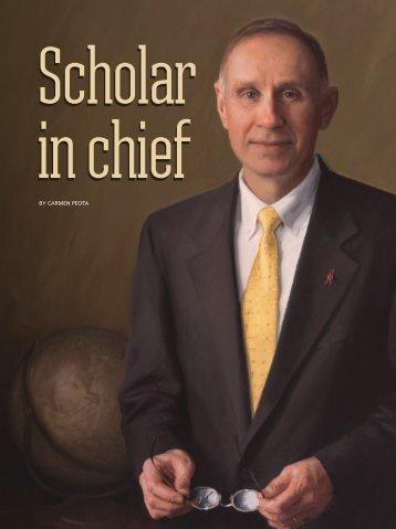 Scholar in chief