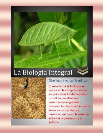 LA BIOLOGIA INTEGRAL
