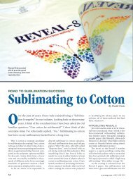 Sublimating to Cotton