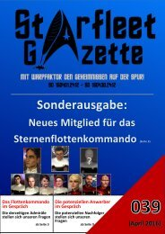 Starfleet-Gazette, Ausgabe 039 (April 2016)