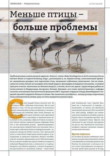 Sepiida - Каракатица - Меньше птицы - больше проблемы - 12-05-2016