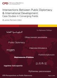 Intersections Between Public Diplomacy & International Development