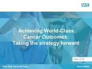 Cancer Outcomes Taking the strategy forward