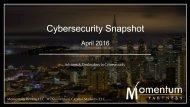 Cybersecurity Snapshot