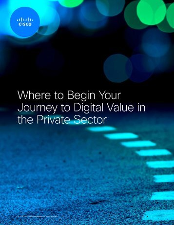 Where to Begin Your Journey to Digital Value in the Private Sector