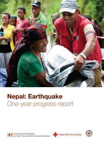 Nepal Earthquake One-year progress report