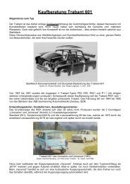 Kaufberatung Trabant 601 - Original Trabant