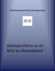 Akshaya Patra as an NGO in Ahmedabad