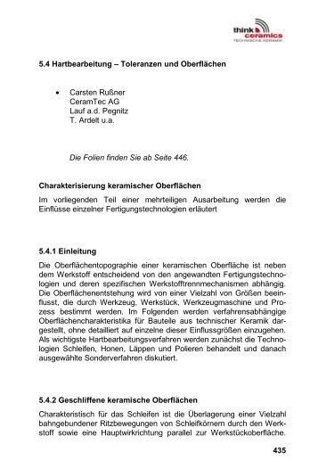 • Carsten Rußner CeramTec AG Lauf a.d. Pegnitz T. Ardelt u.a. Im ...