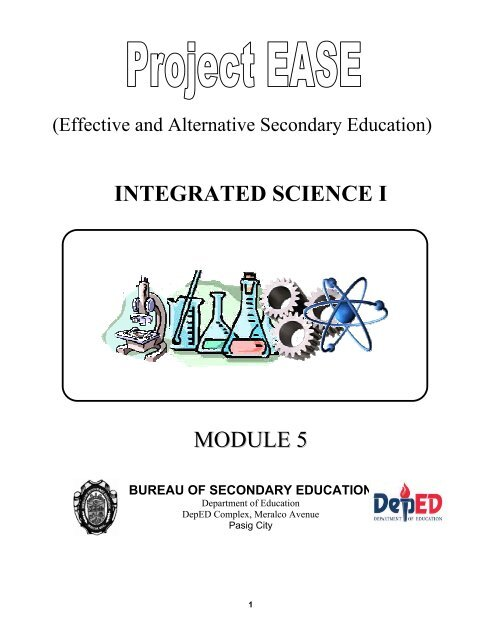 Module 5 What Is Matter Bureau Of Secondary Education