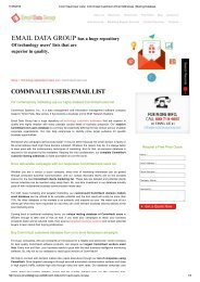 CommVault End Users Email and Mailing List