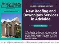 New Roofing and Downpipes Services in Adelaide