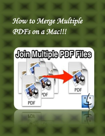 How to Merge Multiple PDFs on a Mac!!!