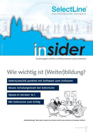 Endkundenmagazin insider 2016/2 - SelectLine Software