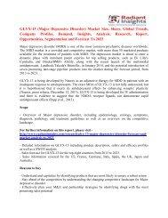 GLYX-13 (Major Depressive Disorder) Market Cost and Revenue Trends Report To 2023