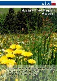 RfW Tirol Magazin Mai 2016