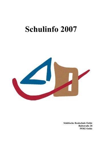 Schulinfo 2007 - Städtische Realschule Oelde