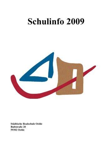 Schulinfo 2009 - Städtische Realschule Oelde