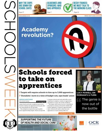 Schools forced to take on apprentices