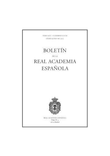 BOLETÍN REAL ACADEMIA ESPAÑOLA