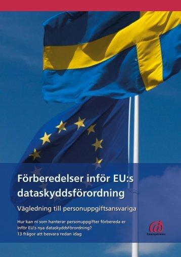 Förberedelser inför EU:s dataskyddsförordning