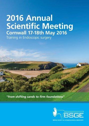 2016 Annual Scientific Meeting