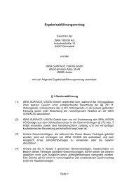Ergebnisabführungsvertrag - ISRA VISION AG