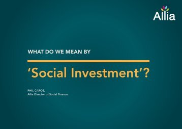 'Social Investment'?