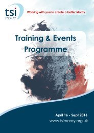Training & Events Programme