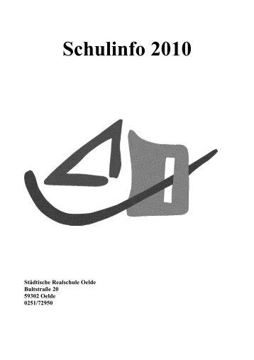 Schulinfo 2010 - Städtische Realschule Oelde