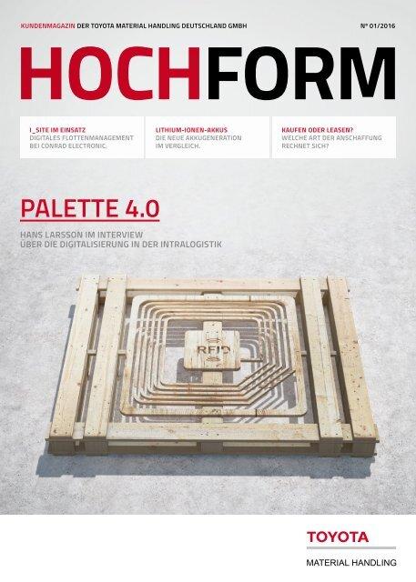 """HOCHFORM Ausgabe 1/2016 """"Palette 4.0"""""""