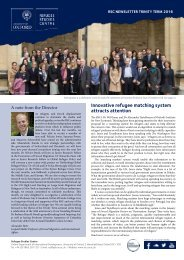 Innovative refugee matching system attracts attention