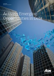 Actively Emerging Opportunities in Debt