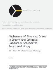 Erik S. Reinert, Mechanisms of Financial Crises in - Technology ...