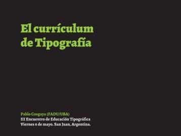 El currículum de Tipografía