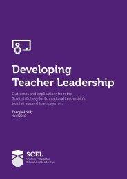 Developing Teacher Leadership
