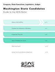 Washington State Candidates