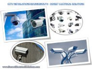 CCTV Installations Bournemouth - Dorset Electrical Solutions